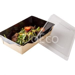 "Eco Opsalad black edition doeco 300x300 - Insalatiera con coperchio in plastica trasparente ""Black Edition"""