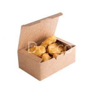 "eco fast food box pure kraft doeco 300x300 - Nugget Box ""Pure Kraft"""