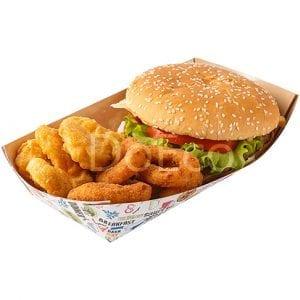 "eco tray enjoy doeco 300x300 - Confezionamento per hamburger, patate fritte e ciabatte ""Enjoy"""